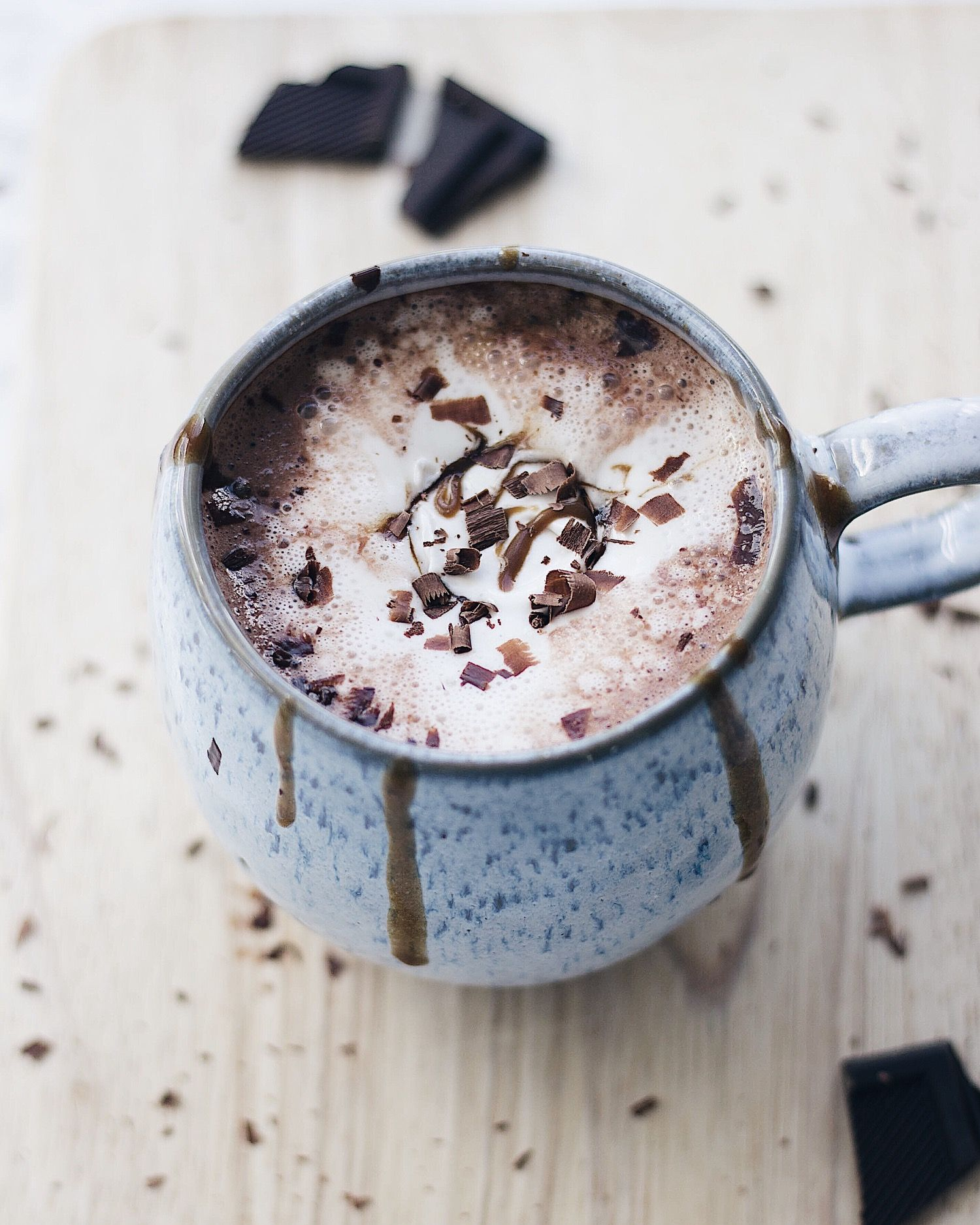 Vegan Creamy Oat Milk Hot Chocolate With Coconut Whipped Cream Recipe Coconut Whipped Cream Oat Milk Oat Milk Recipe