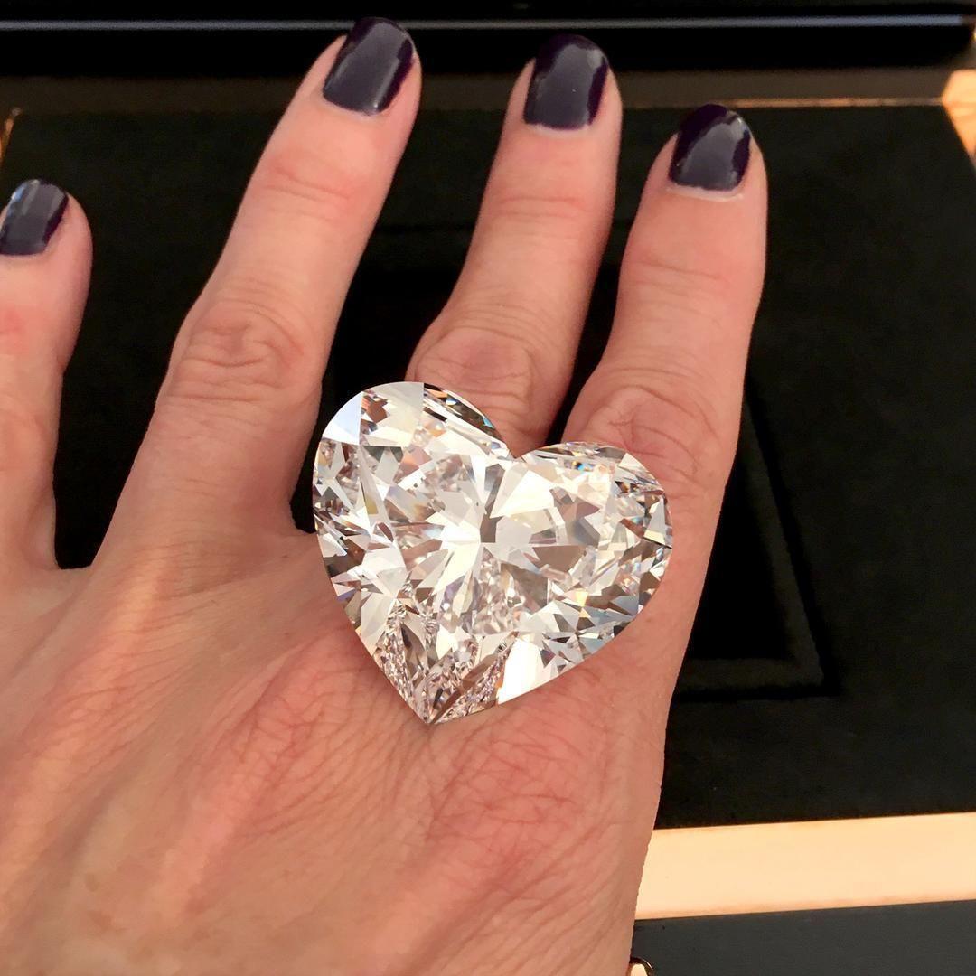 Large Women 925 Silver White Sapphire Birthstone Heart