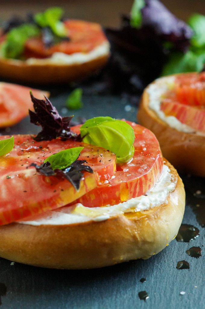 The Broad Fork Cookbook Review And Crisp Toasted Bagel With Fromage Blanc Tomato Sea Salt And Basil Starters Recipes Recipes Grilled Sandwich