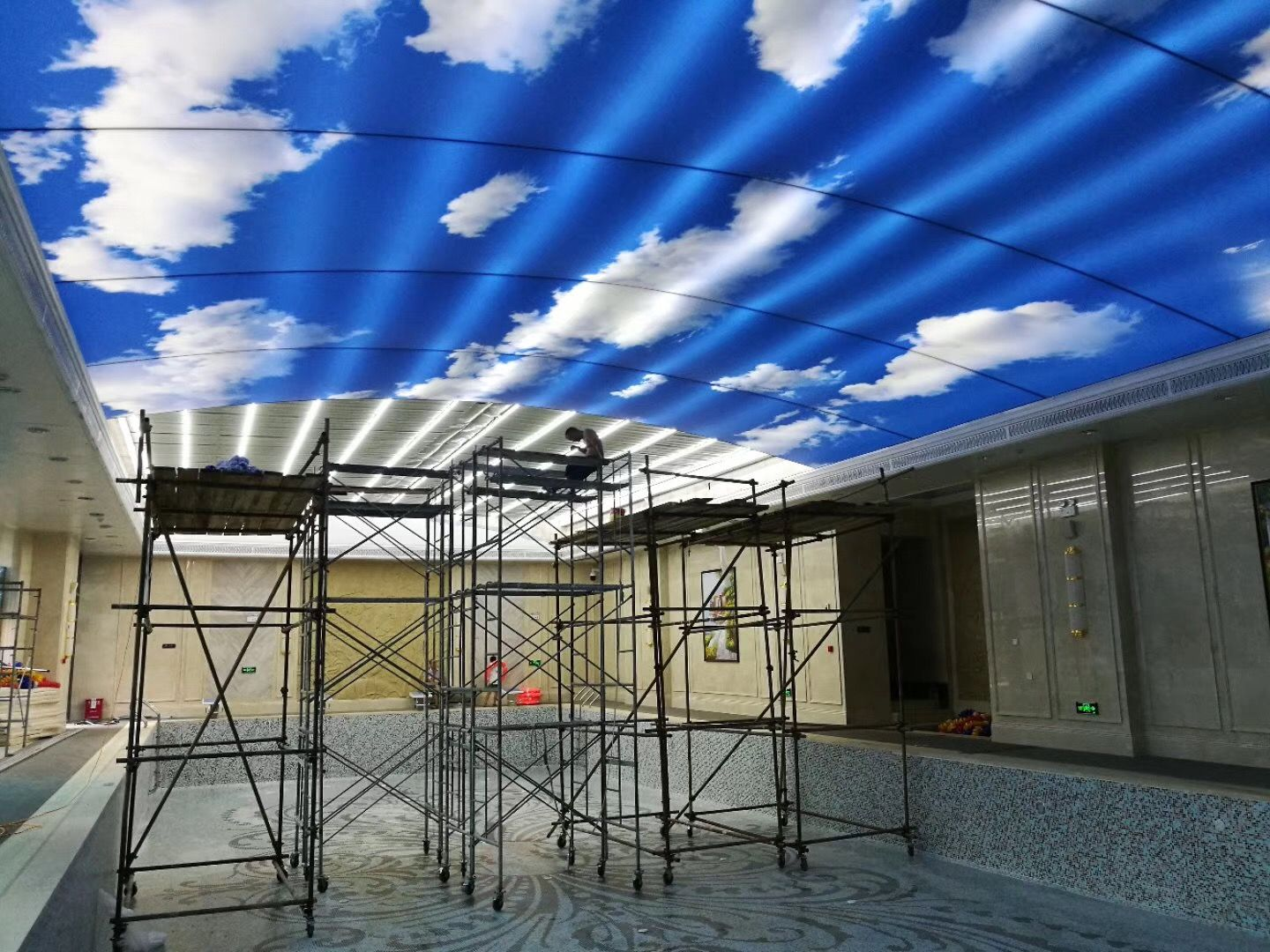 Pin By Pvc Stretch Ceiling Fabric Film Fabric Led Light
