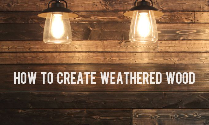 How to Create Weathered Wood