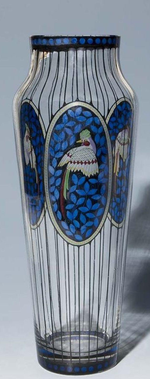 Große Jugendstil-Vase.Haida-1910-15