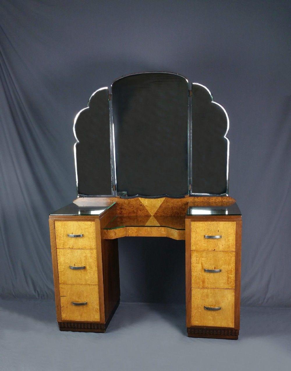 Art Deco Pedestal Dressing Table