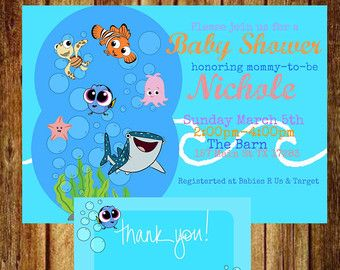 Finding Nemo Baby Shower Invitation Kiri Baby Shower Pinterest