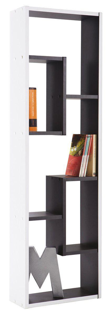 REGAL GRAFIT #521 schwarz weiß 5 Fächer Standregal Bücherregal - küche schwarz weiß
