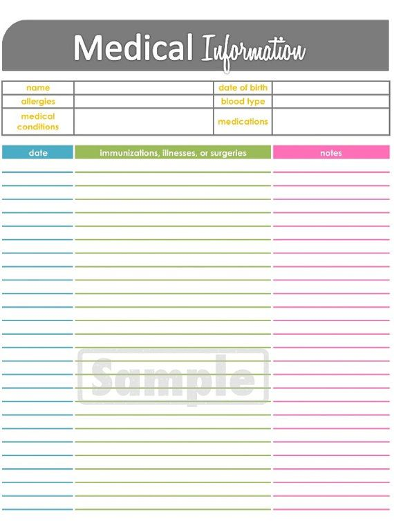 Medication logs and other helpful forms for Home Health logs ...