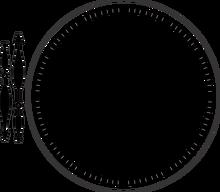 Clock w/Angel Wing (Steampunk Series) - B357