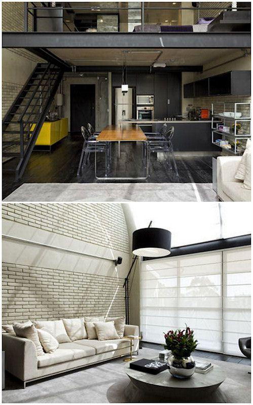 Interiores de un loft moderno en estilo industrial for Loft modernos exterior