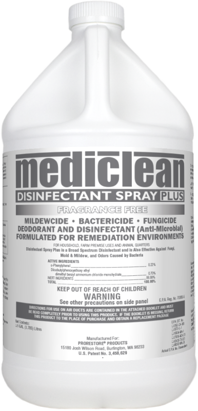 DISINFECTANT SPRAY PLUS FRAGRANCE FREE Cleaner's Depot