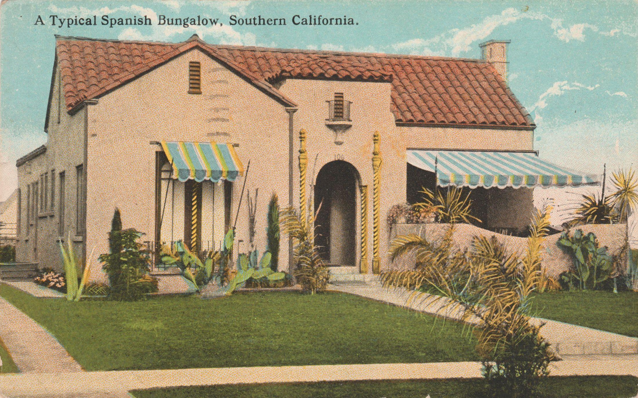 Spanish Bungalow Postcard 2200x1372 BungalowSpanish Style HousesSpanish