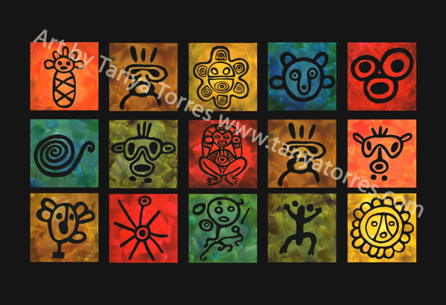 Tano symbols large matted print by tanyaetorres on etsy puerto tano symbols large matted print by tanyaetorres on etsy taino tattoosindian buycottarizona Image collections