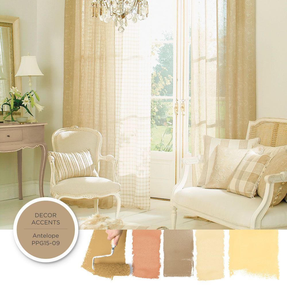 To achieve a French Country style create harmonies of faded neutrals ...