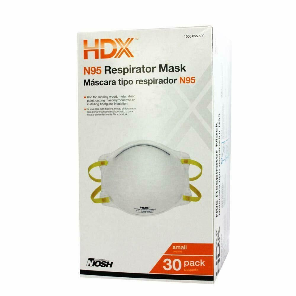 Hdx N95 Mask Box Of 30 New Comparable To 3m 8210 Respirator Home