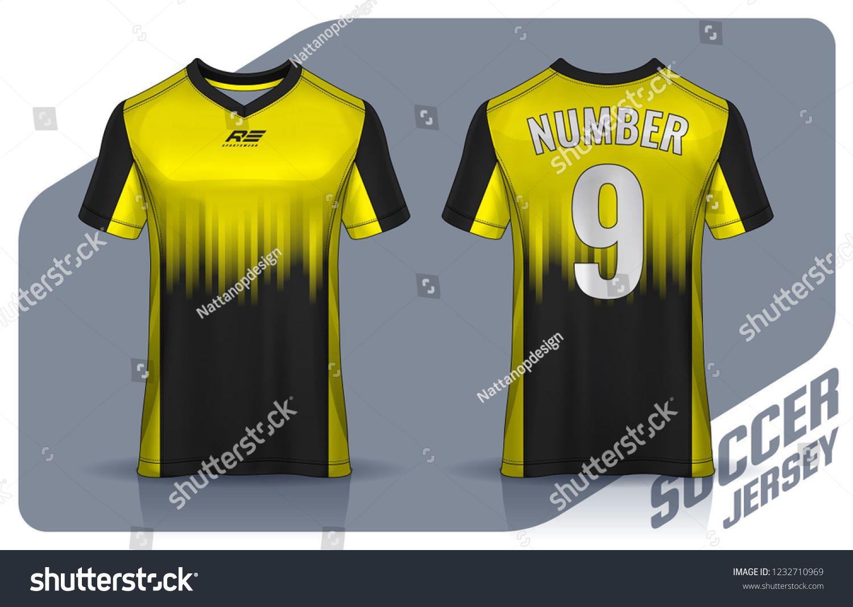 Download T Shirt Sport Design Template Soccer Jersey Mockup For Football Club Uniform Front And Back View Template Soccer J Sports Design Soccer Jersey Shirt Designs