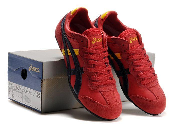 Asics Womens Whizzer Lo Shoes Red Black Yellow  2bda80e072