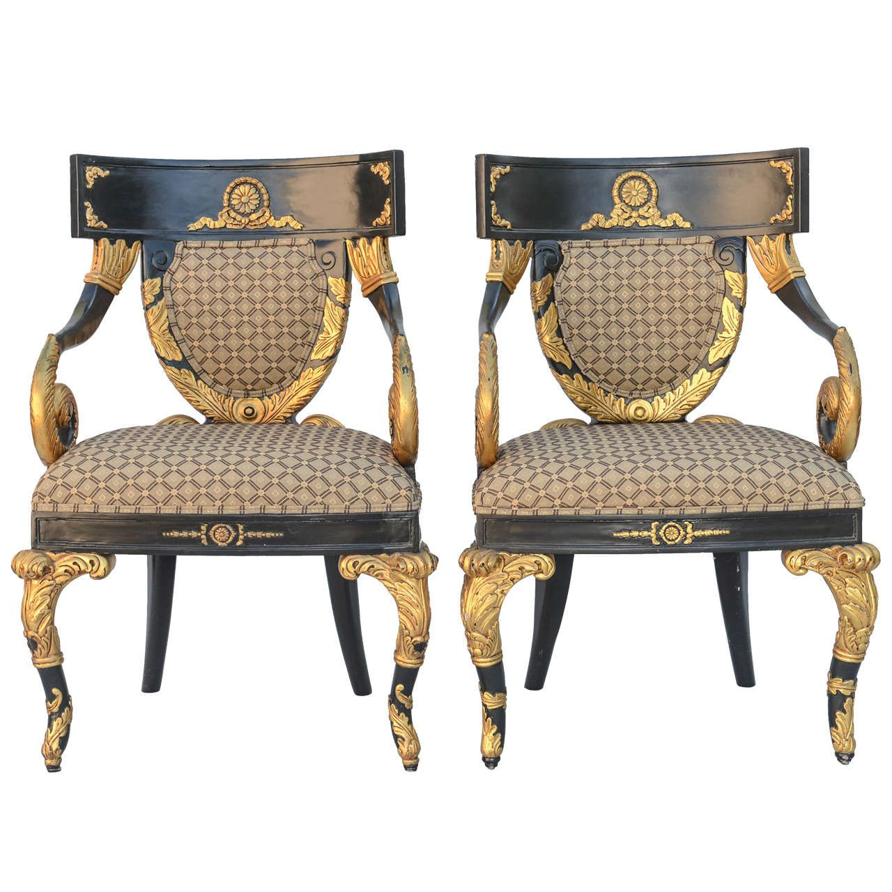 pair of versace home collection armchairs versace. Black Bedroom Furniture Sets. Home Design Ideas