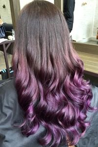 A Glossy Ombre Hair Design That Transitions Smoothly From Dark