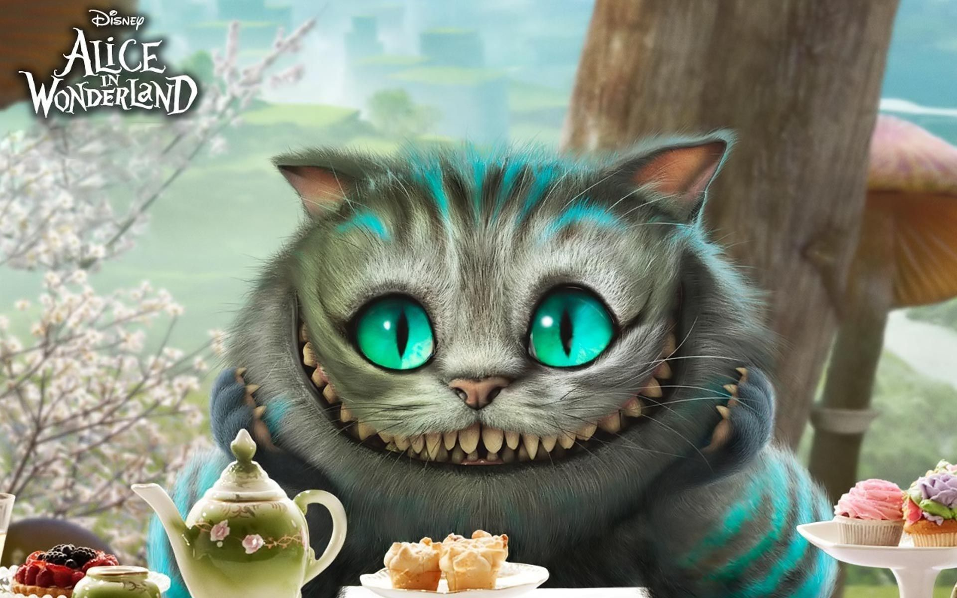 Sugar Skull Iphone Wallpaper Alice In Wonderland Smiling Cat In 2019 Grinsekatze
