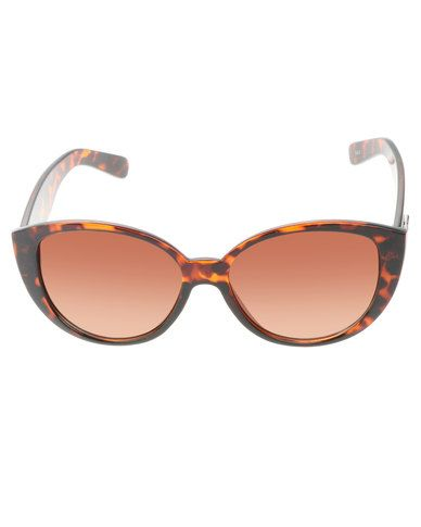 ed788983cce2c6 BONDIBLU LARGE TORT CATS-EYE SUNGLASSES BROWN   Accessories ...