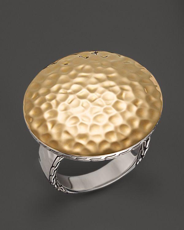 John Hardy Palu 18K Gold & Silver Round Ring