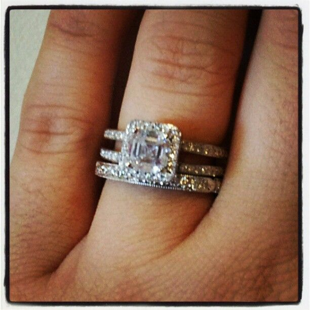My ring and band!!too bad I can't wear both until my ...