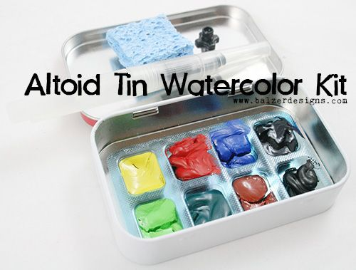 Hey Don T Thow That Away Altoid Tin Watercolor Palette