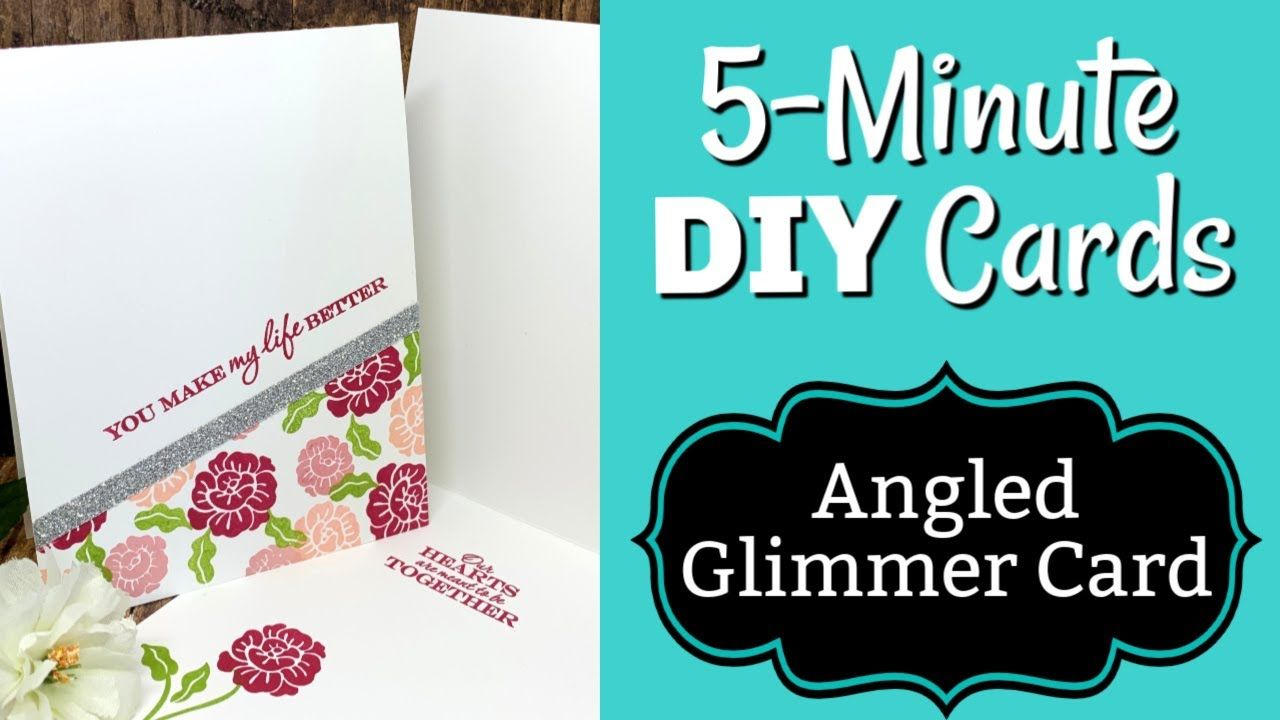 How To Make A Super Quick Glimmery Diy Card 5 Minute Card Series Diy Cards Card Making Tutorials Card Making Videos