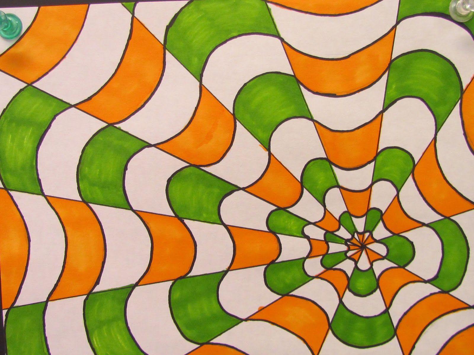 optical illusions lesson miss fickert u0027s art adventures my