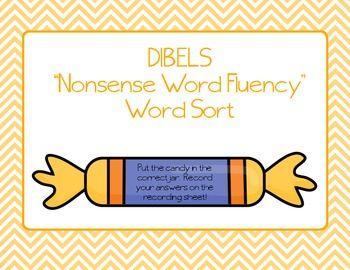 "DIBELS Nonsense Word Sort (NWF) ""Candy Sort"" FREE"