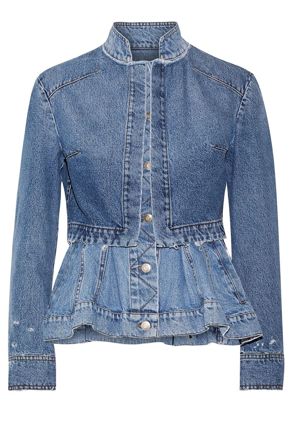 Mid Denim Layered Denim Peplum Jacket Sale Up To 70 Off The Outnet Alexander Mcqueen Peplum Jacket Denim Fashion Denim Jacket Women [ 1425 x 950 Pixel ]
