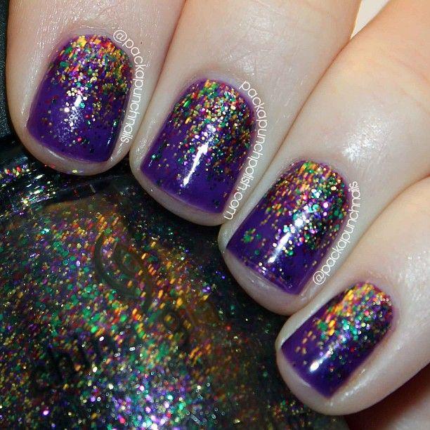 mardi gras nails carnival