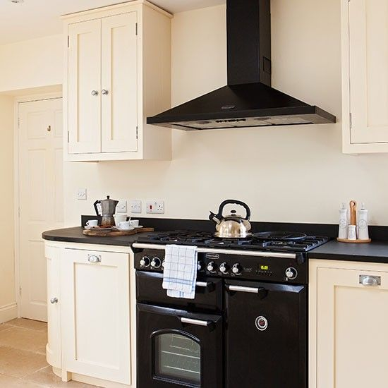 kitchen designs with range cookers. Neutral kitchen with black range cooker  Range