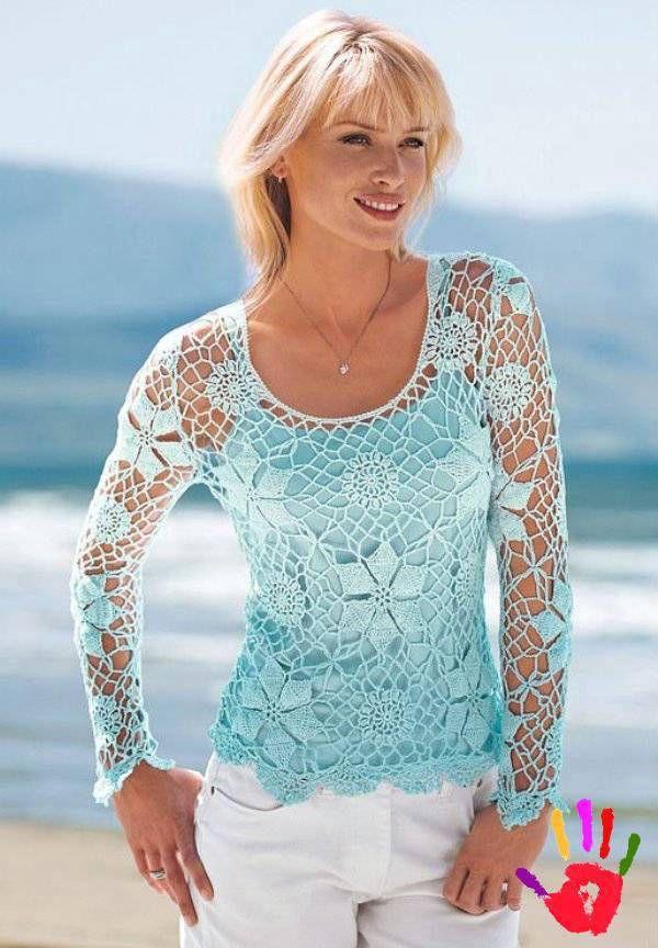 Tig Isi Yazlik Bluz Ornekleri Bayanlar Icin Yazlik Bluz Modelleri Moda Krose Ust Tig Isi Ceket