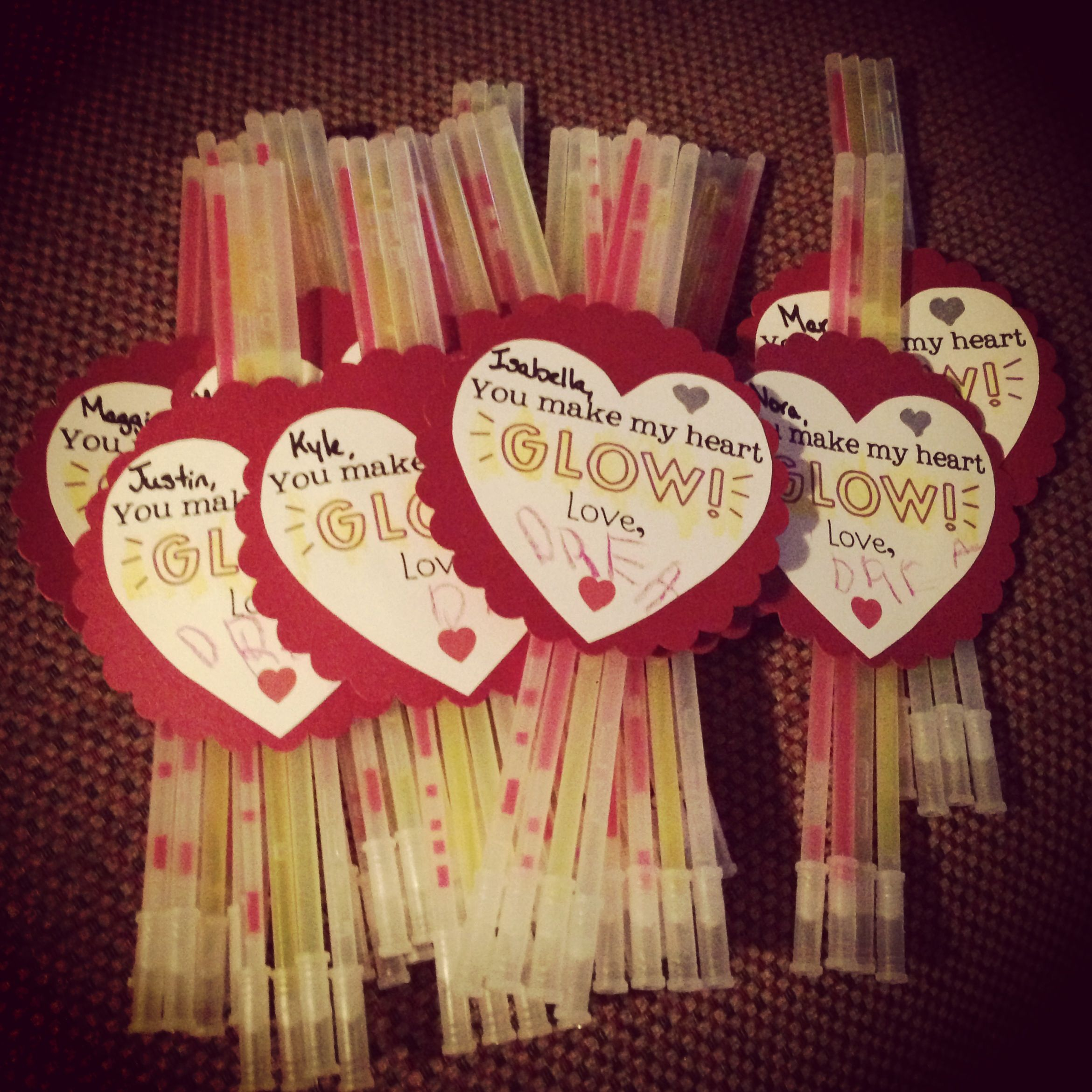 Glow Stick Valentine Printable – That's What {Che} Said… |Pinterest Glow Stick Valentines