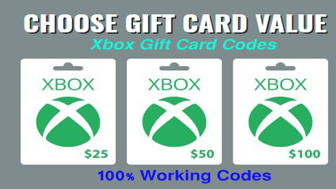 Free Xbox Gift Card Codes How To Get Xbox Gift Card Giveaway