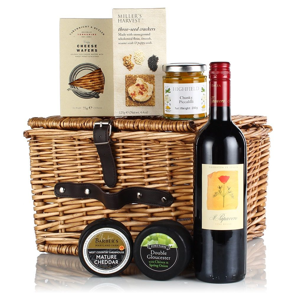 The cheese and wine luxury gift hamper gifts for him for Luxury gift ideas for him