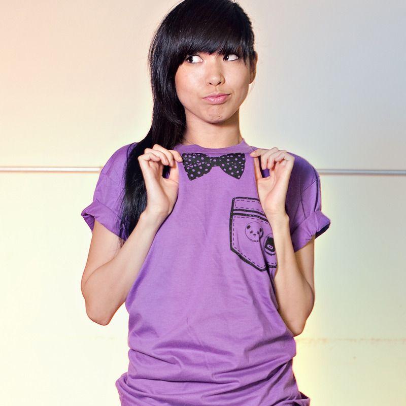 """Bowtie x Pocket"" Tee (Ultraviolet) / Steppie Clothing"