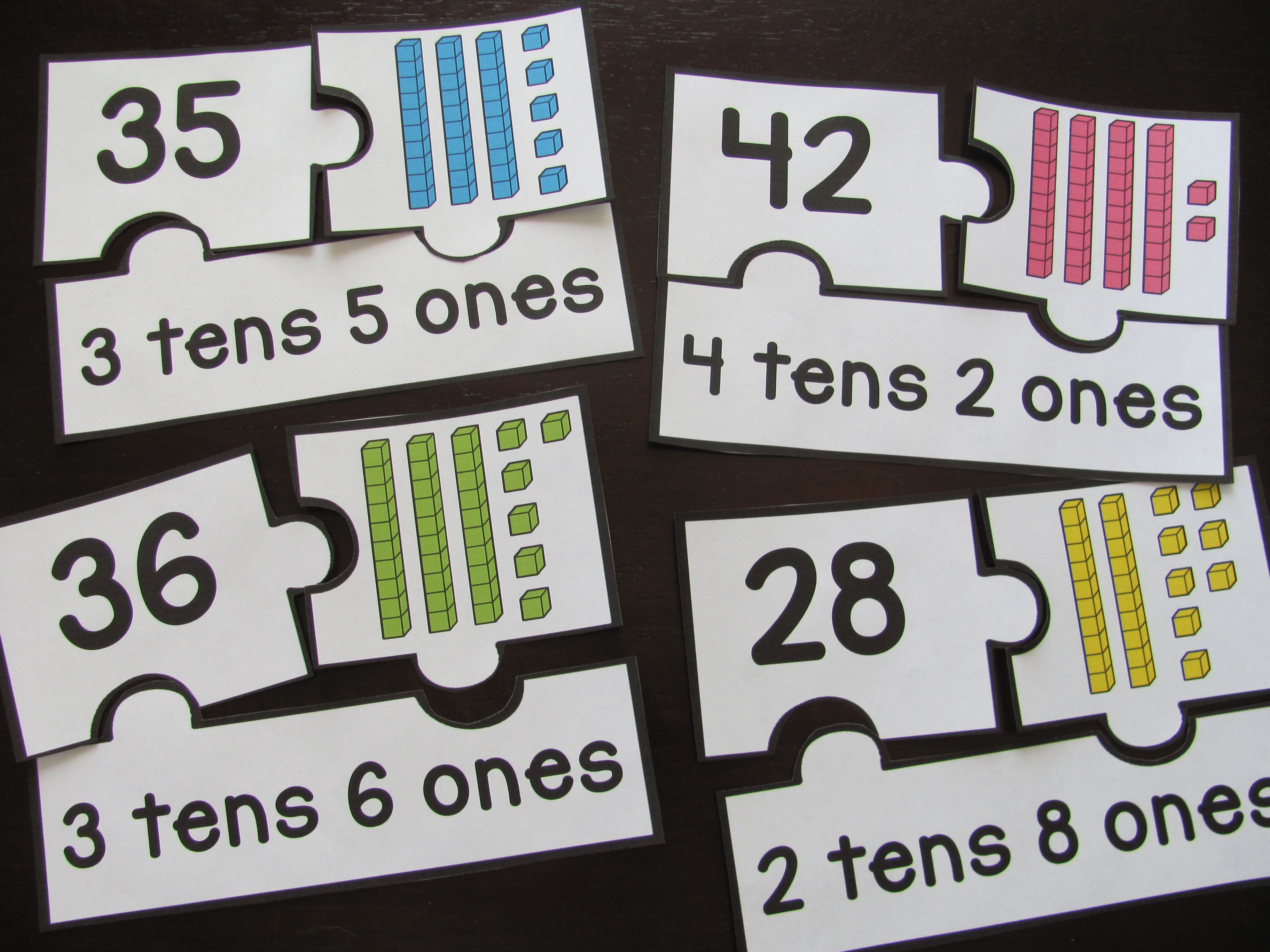 Place Value Puzzles I Don T Teach This But This Is A Great Idea For Review Or Even An