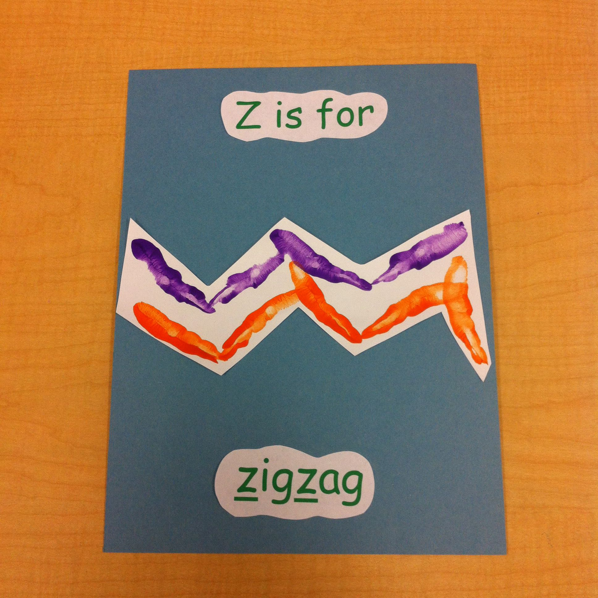 Z Is For Zigzag Handprint Pic
