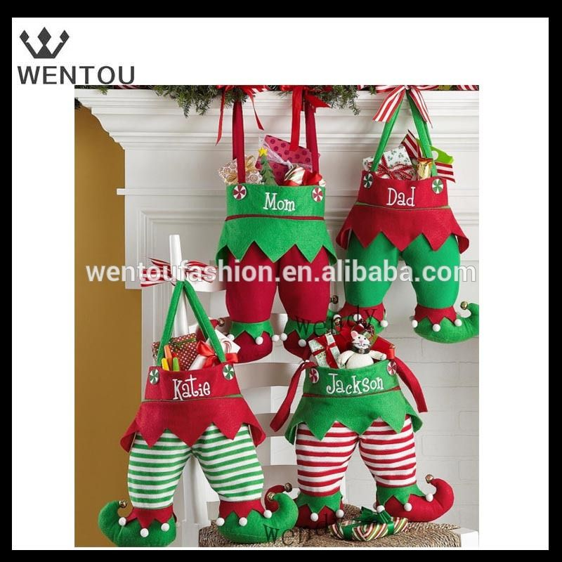 Wholesale personalized elf pants stocking elf stocking Pinterest - wholesale christmas decor