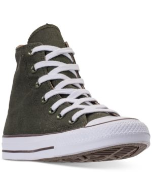 bf8373e6873a Converse Women s Chuck Taylor All Star Seasonal High Top Casual Sneakers  from Finish Line - Green 10