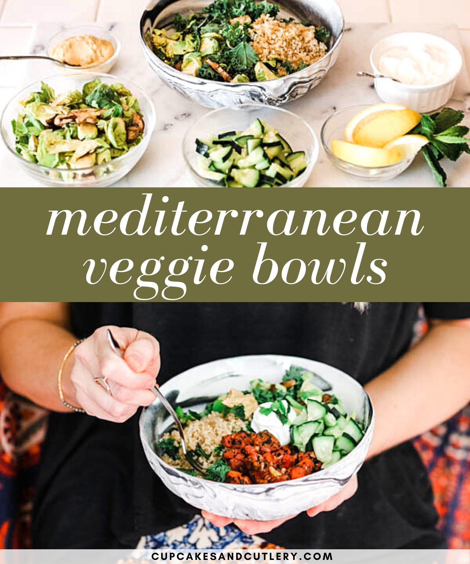 Easy Mediterranean Bowls With Bubba Veggie Burger Recipe In 2020 Vegan Recipes Easy Veggie Bowl Clean Eating Recipes