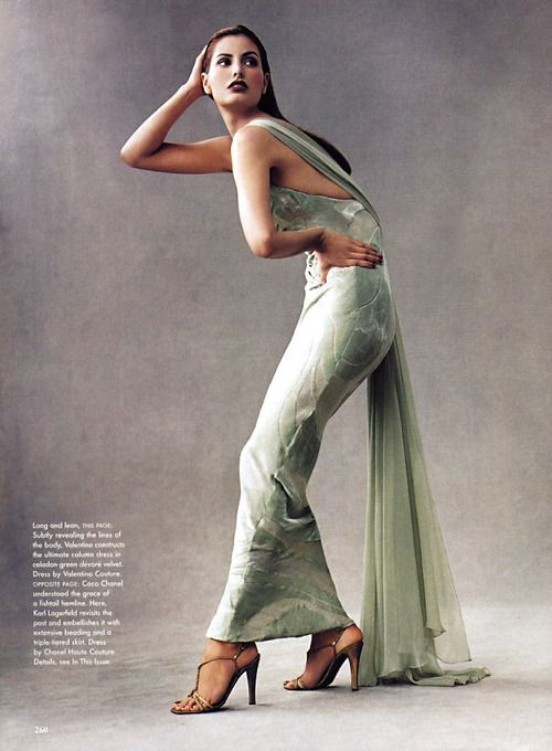 """A Feast Foe The Eyes"", Vogue US, December 1996Photographer : Steven MeiselModel : Elsa Benitez"