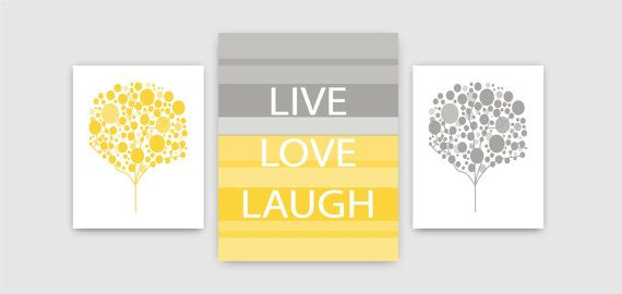 Live Love Laugh and Bubble Trees Wall Art by 7WondersDesign, $46.50 ...