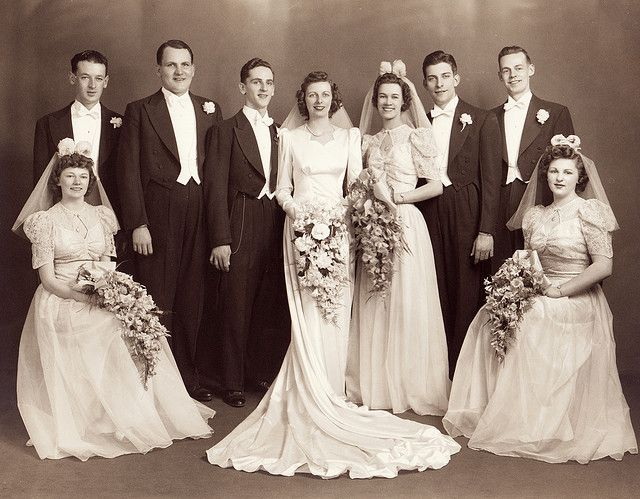 1940s wedding group | Flickr - Photo Sharing!