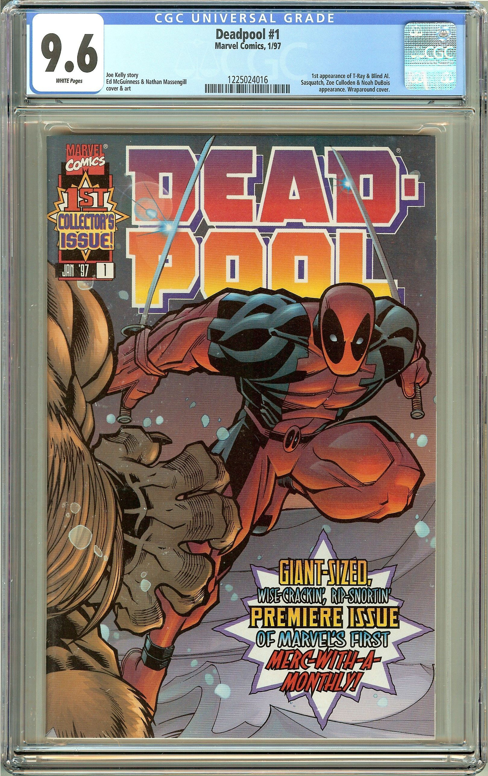 Deadpool #1 (1st Series 1997) CGC 9.6 White Pages 1225024016