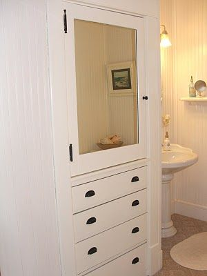 Build In The Linen Closet Remove Door Add Drawers On