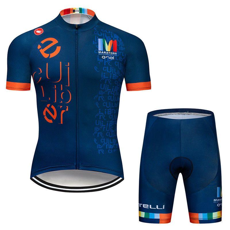 Cycling Jersey Mens Short Sleeve Team Shirt Shorts Set Jerseys Pants Kits  Bike  Fineou c69ba3a67