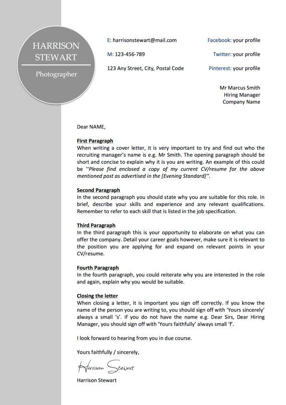 Professional Letterhead Template Business Cover Letter Instant - copy business letter format template with letterhead
