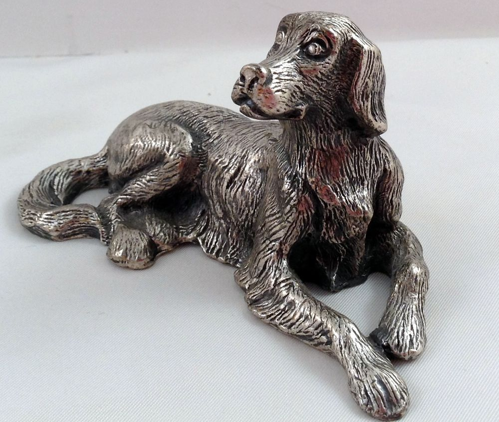 details about vtg peltro italy pewter great dane dog